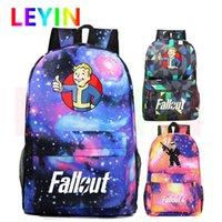 Zaino Fallout4 Donne Borse da viaggio Gaming Daypack Fallout 4 Schoolbag Game ZoomsAck Satchel Bambini Bambini da giorno all'aperto