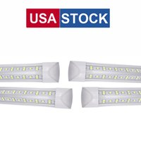 8FT Shop Light Fixture, T8 LED Tubes Lights, Cold White 6500K, V Shape, Clear Cover, Hight Output Shops Lights for Garage 72W 7200Lumens V-shape Leds Tube Lighting OEMLED