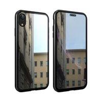 Manyetik Kılıflar iPhone X XS Max 7 8 Artı Coque Metal Telefon Fundas Kapak Çift Taraf Temperli Cam 360 ° Tam Koruyucu Carcasa