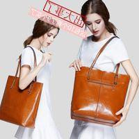 New Shoulder Bags Messenger Piece Set Classic Package Women Bag Leather Lady Satchel Three Body Purse Handbags Cross Drklf
