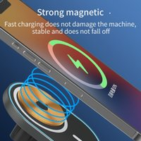 Min.3pcs Mini Car Stand 15w Quick Charge Wireless Charger Universial Strong Magnetic Absorption Smart Cell Phone Holder