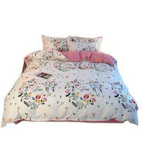 Mode-Bettwäsche-Set Bettbezug-Deckung flacher Blatt und Kissenbezug Königin King Quilt Bettwäsche doppelte zwei Einzelbetten-Nordic-Stil-Sets