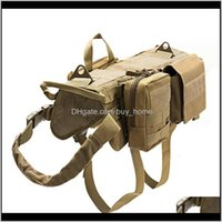 Others Aessories Gearlarge Tactical Molle Suit K Clothing Training Equipment Outdoor Police Dog Combat Vest Drop Delivery 2021 D8Wdx