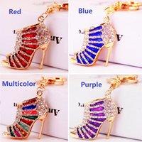 Lovely Rhinestone Crystal High heels Keychain Keyring Pendant shoes Key Chain Ring Holder Alloy Keychains Gift Unisex