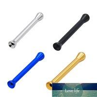New1PC Aleación de aluminio Sniff Sniffer Sniffer Nasal Fumar Tubo Snuffer Nasal Fumar Accesorios