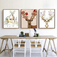 DIY Pintura al óleo Animal Decorado Imagen Arte Pinturas Pintado a mano Pintura Al óleo Sofá Decoración de la pared Sin marco 16 * 20 pulgadas BC BH1495