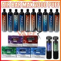 Hava Bar Max Tek Kullanımlık Vape Kalem E Sigara Cihazı ile 1250 mAh 18350 Pil 6.5ml Pod 2000 Puffs Vapes Kiti vs Bang XXL Puff Flex