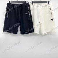 21ss мужские дизайнерские шорты брюки буква треугольник красный лейбл весна лето мужчин kebbiz bage повседневная буквы брюки свадьба черный белый