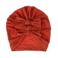 12 couleurs Nouveau-né Baby chapeau Bows Turban Bonnet Beanie Bonnet Infant Photographie Prise de photographie Hiver Chaud Coton Cap 713 S2