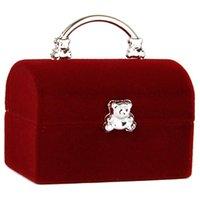 Sieraden pouches, tassen Sieraden Doos Display Case voor Ring Oorbellen Organizer - Rood