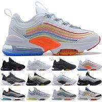 ZM950 Koşu Ayakkabıları Erkek Kadın Üçlü Siyah Beyaz Neon Pembe Mutil Kurt Gri Moda Erkek Eğitmenler Atletik Spor Sneakers Boyutu 36-45