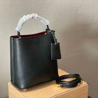 2021 brand luxury bucket bag black P home panier diagonal bag shoulder bags tote famous designer Triangle sign mini bucket bags