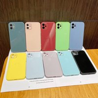 Liquid silicone PC Phone Cases Tempered glass Back Cover Fashion Protector for iPhone 13 12 Max X 6s 7 8