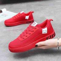 scarpe di alta qualità uomini donne coppia coppia canva piatto nero rosso autunno designer designer mens donna casual