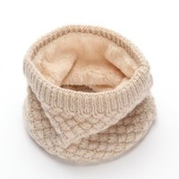 Scarves High Quality Winter Knitted Scarf For Women Men Thermal Fleece Warm Children Snow Tube Neck Ring Beanie Hats