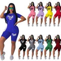 Kadın Tasarımcılar Giysileri 2021 Eşofman Spor Şort İki Parçalı Baskı Set Bayanlar Yaz Koşu Takımları için Jogger Ter
