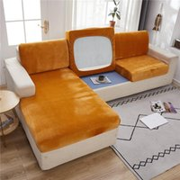 Chair Covers European Soft Plush Sofa Cushion Cover All-inclusive High Elastic Coral Fleece Universal Slipcover 1 2 3 Seater Couch