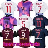 Mbappe Icardi Futbol Forması 20 21 Maillots De Futbol Gömlek 2021 Hommes Kean Verratti Erkekler Kiti Üniforma Enfants 3rd Maillot Ayak Dördüncü