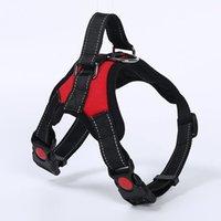 Collares de perro chaleco arneses cerradura de seguridad hebilla ajustable fuerte pecho acolchado grande y mediano resistente para mascotas suministros de arnés accesorios