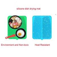 41 * 36 cm rectángulo Plato de silicona Secado Mat de secado Premium Resistente al calor Vajilla Platos seguros Pad Vajilla Mesa Mationeta Placemat OWEE7973