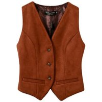 Women's Jackets Fashion Suede Waistcoat Women Autumn Winter All-match V-neck Solid Color Thickened Short Vest Plus Size