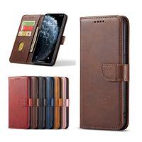 2021 Estuches de billetera de cuero de calidad de lujo para iPhone 13 Pro Max iPhoen 12 6 7 8 Plus 11 XR Samsung S20 S21 Note 20 Caja del titular de la tarjeta magnética