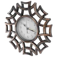 Wall Clocks Vintage Dial Clock European Hollowed-out Silent 3D Large Decorative For Living Room Bedroom Kitchen(Black)