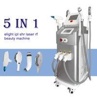 5 en 1 Máquina de belleza multifuncional Elight Elight Shr Lazer ND YAG Removedor de pelos permanentes + Q Switch Switch Tattoo Tatuage