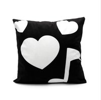 Sublimation Pillow Case Thermal Transfer Pillowcovers Short Plush Pillowcases Moon Heart Pillowcushions Polyester Soft Customized DIY A02