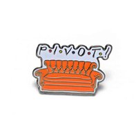 20pcs TV Show Hard Enamel Pins Pivot Sofa Brooch Women Lapel Backpack Bags Badge Jewelry BFF Best Friends Gifts