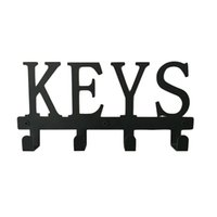 Hooks & Rails 4 Clothes Hanger Door Back Multifunction Home Scarves Bedroom Office Wall Mounted Hats Easy Install Key Holder Iron Art