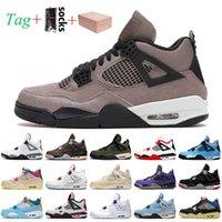 Nike Air Jordan 4 4s off white jordan retro 4 Travis Scott Com caixa taupe haze 4 4s jumpman mens sapatos de basquete retro vela vela demitido universidade sneakers