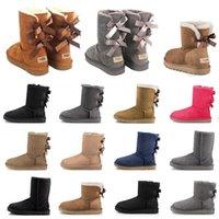 snow boots australia diseñador de moda botas de nieve para mujer bota de invierno clásico mini tobillo corto damas niñas dama botines caqui luxurys pajarita castaño