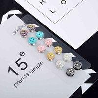 Crystal Flower Veil Veil Elegant Magnet Broche Hijab Muslim Girls Burka Foulard Fix Boucle Boucle 12pcs