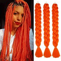 Human Ponytails 82 Inch 165g Xpression Jumbo Braiding Hair Pre Stretched Synthetic Kanekalon Extensions For Box Twist Braids Instylefashion