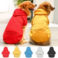 5 Color Dogs Hoodie Dog Apparel Sweaters with Hat Cold Weather Pet Hoodies Pocket Hooded Clothes Costume Puppy Cat Winter Hoody Warm Coat Sweater for Small Doggy L A124