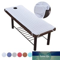 Sheets & Sets Soft Polyester Massage Table Bed Sheet Elastic SPA Treatment Cover For Relaxation Forepart Hole Bedding Article Salon Couch