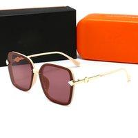 Sombras cuadradas Moda vintage de lujo Sunglases Diseñador Gafas de sol para hombres Hombre Retro Gafas de sol o Mujer UV 400 Lente Caja original