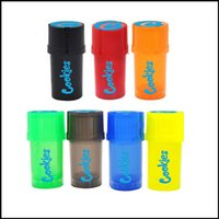 Colorful Cookies 2in1 Smoking Accessories Kit Grinder Storage bag Jar 2 in 1 Vape Container for Dry Herb Wax 90mm Size