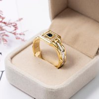 Cluster Rings Watch Shaped For Men Creative Enganement Wedding Band Ring Gold Party With Size 6-13 Male Fashion Trendy Jewelry