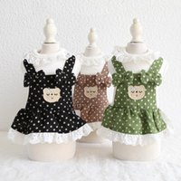 Dog Apparel Est Clothes With Polka Dot Printed Bear Animals Decor Multi Colors Dress Cute Pet Two Feet For