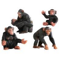 أقنعة حزب الأطفال محاكاة الصلبة البرية الحيوان قرد نموذج أورانجوتان جيبون القرد لعبة الديكور المعرفي