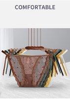 Slips en dentelle Sous-vêtements pour femmes Sexy Lingerie érotique 5 couleurs Black Jaune Vert Coffe Broyeur