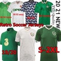 20 21 Irlanda Retro Futebol Jerseys 1988 90 92 98 Copa do Mundo Vintage Clássico Hendrick Doherty McGoldrick Duffy Camisa de Futebol Homem Uniforme