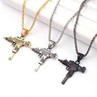 Necklace Personality Cuban Uzi Gun Pendant for Women Men Night Club Bar Party Accessory Gothic Male Punk Hip Hop Chain Jewelry