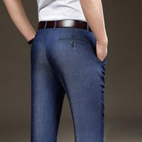 Men's Jeans Oversized Relaxed-fit Casual Stretch Tencel 2021 Summer Arrivals Thin Comfortable Business Denim Trousers