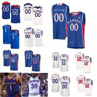 كلية NCAA Kansas Jayhawks كرة السلة جيرسي 35 Udoka Azubuike 4 Devonte 'Graham Isaiah Moss 44 Mitch Lightfoot مخصص خياطة