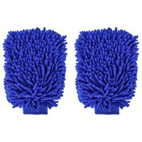 Car Wash Gloves 2 Packs-12 X 9 Inch Super Large Cleaning Tool Kit-high Quality Chenille Microfiber Winter Waterproof Gl Glove