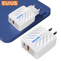 Fast Quick Type c USB-C PD Eu US AC Home Travel Wall Charger 12W 2A 3 2 1 Usb Ports Power Adapter For Iphone Samsung Huawei htc android phone pc