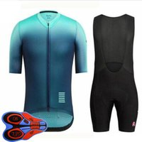 Rapha Team 2021 Summer Men Cycling Jersey Set Bicycle Uniform Quick Dry Mountain Bike Abbigliamento manica corta Bib Bib Shorts Suit Ropa Ciclismo S21040628